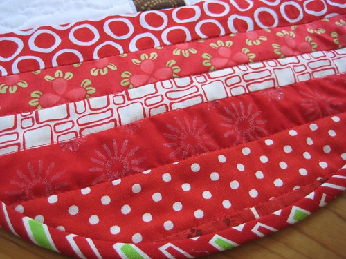 poppyprint fabric in tree skirt