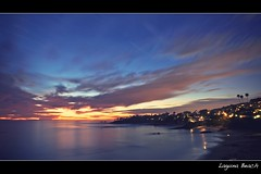 laguna beach (Eric 5D Mark III) Tags: california longexposure light sunset sky color reflection beach water silhouette clouds bay twilight orangecounty transition overlook lagunabeach ef24105mmf4lisusm