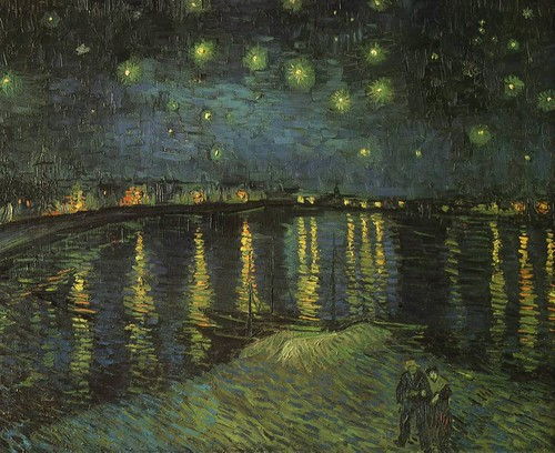 Starry Night over the Rhone, by Vincent van Gogh (1888)