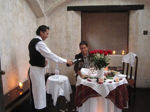 Romantic dinner at Hotel Panza Verde