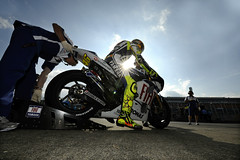 Valentino Rossi out of the pits (Fiat Yamaha Team) Tags: fiat moto