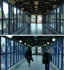 Eternal Sunshine Of The Spotless Mind - Being Spontaneous (GazTruman) Tags: new york city nyc bridge winter ny newyork film sunshine station train movie kate joel jim location mind clementine eternalsunshineofthespotlessmind eternal spotless winslet carrey jimcarrey katewinslet movielocations reinactment esotsm filminglocations