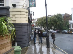 UCL student mapping party in the rain