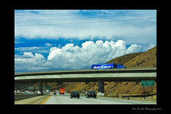 (Hsin Tai Liu) Tags: california county blue light weather bar clouds canon rebel 50mm los movement san traffic angeles 14 north diamond freeway bud usm xs hdr 57 dimas 1000d