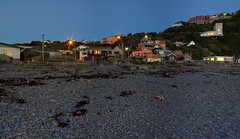 7.40pm photo of an often photographed scene (Lester Ralph Blair) Tags: houses newzealand coast dusk topographical urbannature wellington foreshore urbanlandscape owhirobay dwelling contemporaryarchitecture lackofpeople generaluntidiness