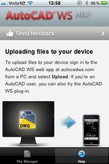 AutoCAD WS Upload Process