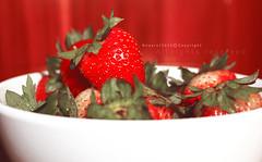 Strawberry (NOURA - alshaya ♔) Tags: morning 3 canon strawberry good d iso 100 500 2010 2011 الخير فليكر صباح احمر كانون نوره فراوله فاكهه نويروا nouero