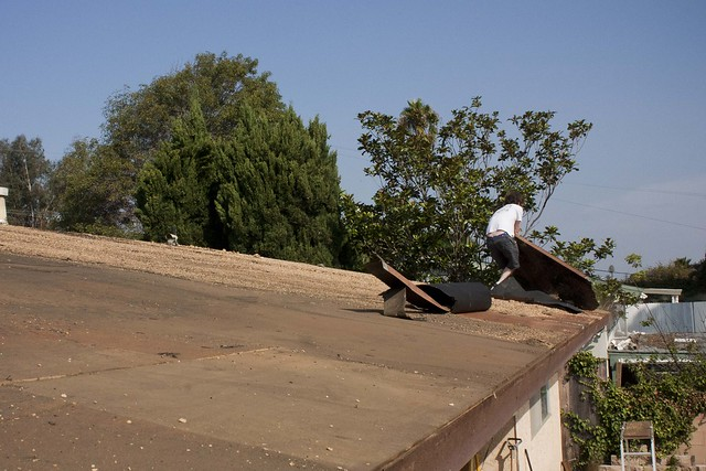 ripping up the roof