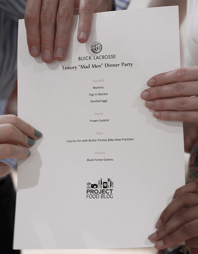 Luxury 'Mad Men' Dinner Party Menu