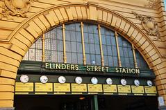 I'll Meet You Under The Clocks (Gane) Tags: street station australia melbourne victoria clocks flinders