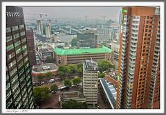 My centre of Rotterdam (John Riper) Tags: city roof fog john cool rotterdam gallery blaak wwii foggy bank ww2 passage bijenkorf luchtfoto coolsingel deutsche abn amro hbu riper schielandtoren johnriper
