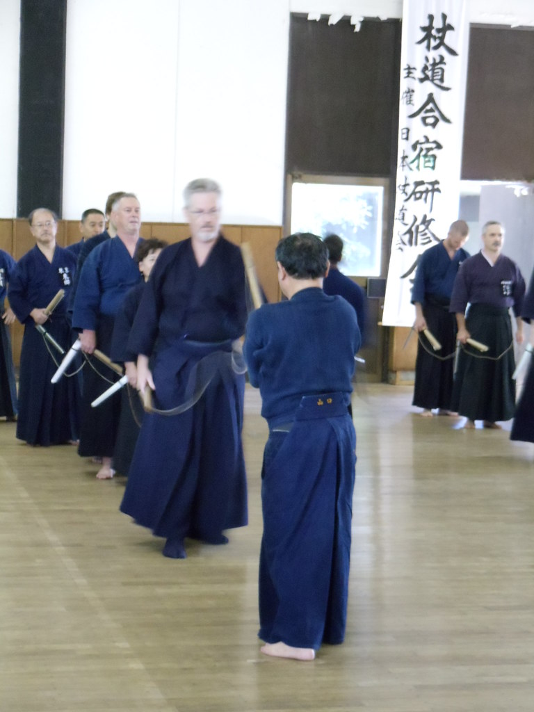Training with kusarigama at Kashima Shrine, Japan.