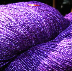 purple cashmere yarn