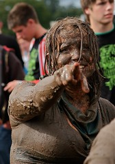 plastered at v (john thompson imagery) Tags: people festival fun women mud v laughter