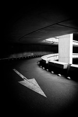 -> (Explored) (tristanlb) Tags: light bw architecture contrast canon dark eos airport mood darkness empty parking clairobscure emptyness concret 24105 tristanlb