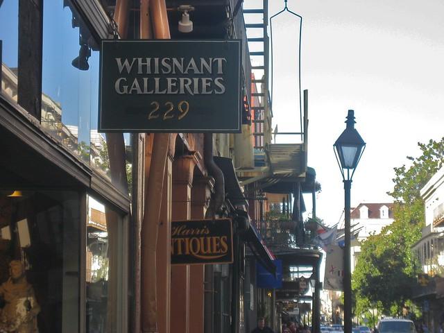 Whisnant Galleries, Royal Street, New Orleans - Antiques