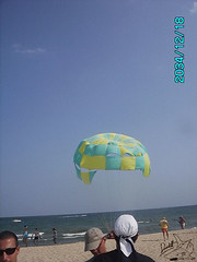 yes i can do it (divingoff) Tags: sea beach scarf flying sunny bulgaria 2008 parachute varna
