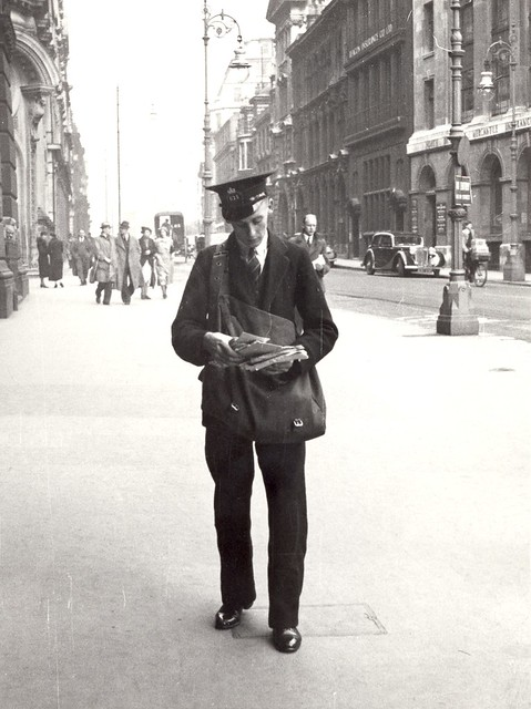 Birmingham - postman on delivery by British Postal Museum amp Archive
