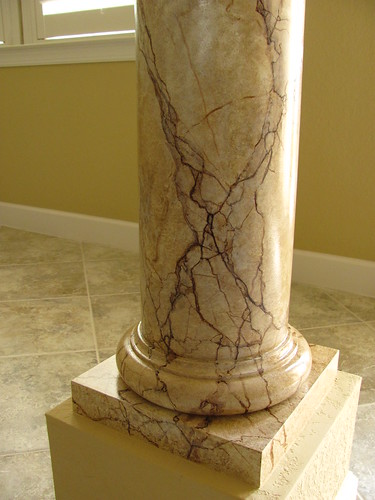 Faux marble technique