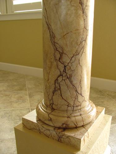 Faux marble technique