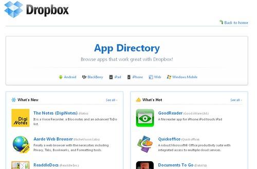 Dropbox App Directory