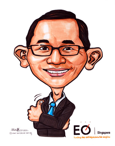 Caricature of Tan Jit Khoon for EO Singapore