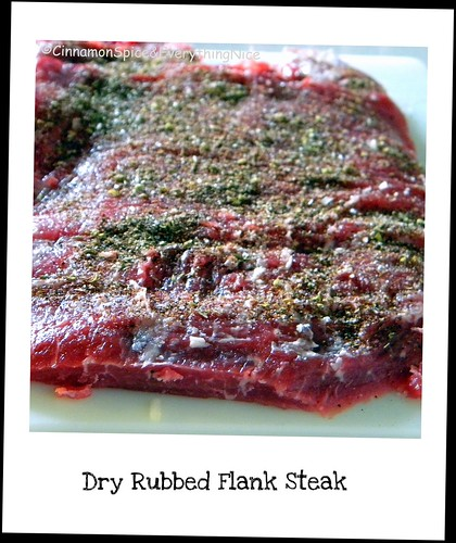 Dry Rubbed Flank Steak