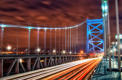 10/7/2010: Ben Franklin Bridge - Philadelphia (todd landry photography) Tags: bridge philadelphia franklin nikon ben pennsylvania hdr d40 hdratnight