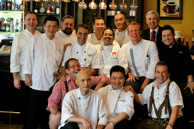 What a feat getting all these chefs cooking in one kitchen!