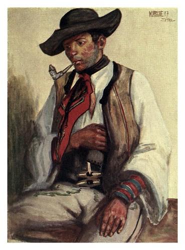 002-Campesino eslovaco de Tátra en el norte de Hungria-Hungary and the Hungarians 1908- Bovill W.B Forster