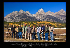 Photographers with DCPT 2 tour - at Cathedral Group Turn out  Grand Teton National Park 9-26-2010 (Michael Vanky) Tags: grand teton dcptsept2010