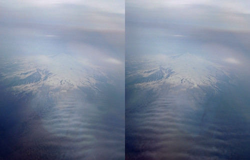 Mount Chokai, stereo parallel view