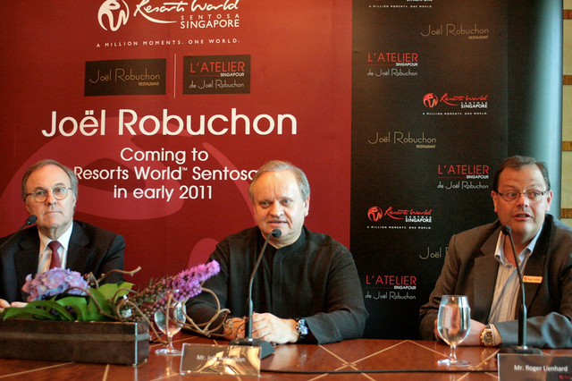 Pierre-Yves Rochon, Joël Robuchon and Roger Lienhard