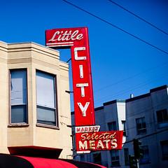 Little City Selected Meats (Thomas Hawk) Tags: sanfrancisco california usa neon unitedstates unitedstatesofamerica northbeach northbeachdistrict littlecitymeats