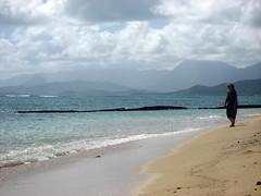 Mom worrying (Jake T) Tags: family vacation beach hawaii oahu 2010 kualoa kualoabeach october2010