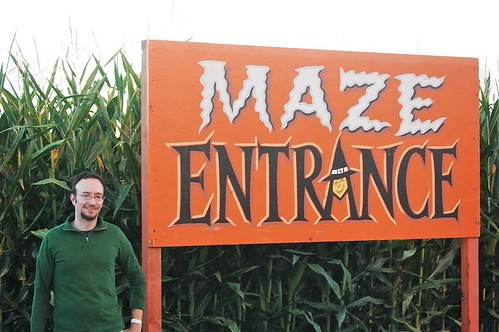 William at the Maze Entrance