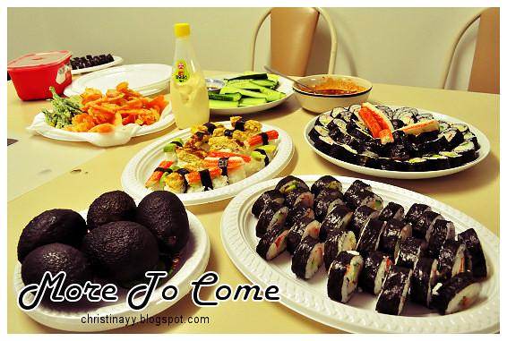 Pre-Birthday Preparation: Sushi and Tempura