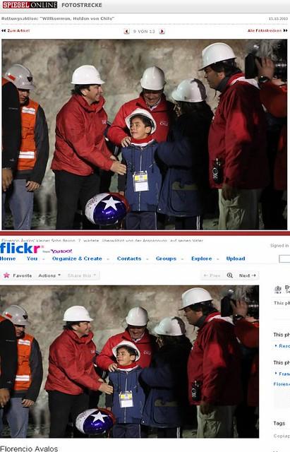 Die Rettung der Kumpel: Spiegel Online und Flickr
