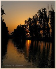 Sunset on the Way from Kasur (Tanwir Jogi) Tags: travel trees pakistan light sunset orange sun water trekking canal cannon traveling tours lahore treks refelections jogi g9 kasur trekkinginpakistan concordian tanwir travelinginpakistan trekkerz liliani tourisminpakistan tanwirjogi
