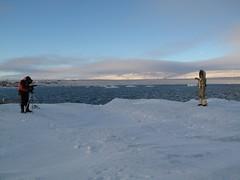 Rishi films Parvati on an iceberg in Resolute (parvatimusic) Tags: canadian planetary rishi nunavut humanitarian parvati revival northpole resolute ignites wardhuntisland parvatinorthpole parvatimusic positivepossibilities