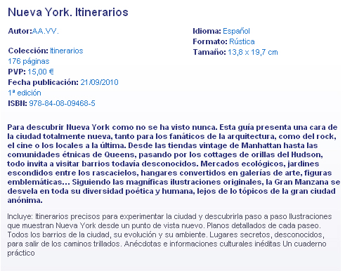 Lonely Planet - Itinerarios - New York