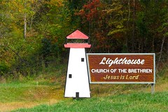 LIGHTHOUSE CHURCH of the BRETHREN (NC Cigany) Tags: lighthouse color church sign rural virginia country jesus lord brethren