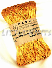 Habu Root Sizing Silk in Deep Gold