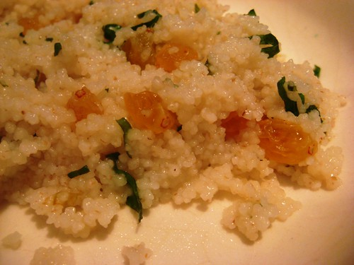 Couscous with Mint and Raisins