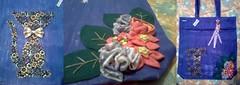 Sacola Ecológica - Gato (Fuxico de Chita) Tags: de flor artesanal fuxico feltro tecido aplicação sacola ecológica customização sacoladefeira aplicaçãodefeltro sacolaecológica