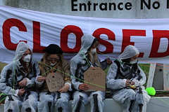 Crude Awakening: Beyond Oil (Russ_ell) Tags: london justice awakening action protest oil change network petrol bloc blockade refinery essex climate activist crude