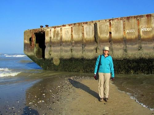 Kris on Omaha Beach