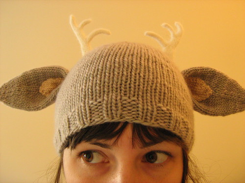 deer hat with little antlers