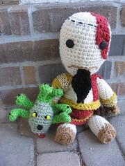 KratosSackboy 009 (Ami Amour) Tags: doll crochet amigurumi medusa kratos sackboy