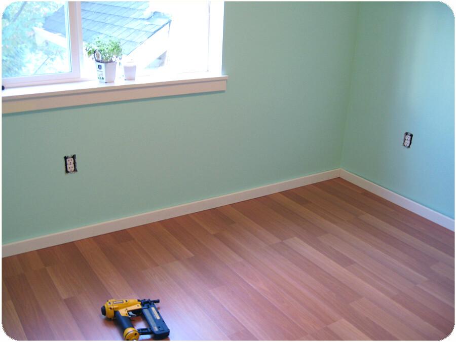 Craft Room Remodel - Wood Floor